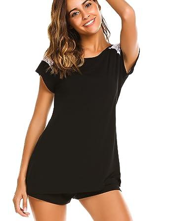a55988cfd5 Avidlove Summer Sleepwear for Women Pajamas Short Sets Short Sleeve  Sleepwear Shirt Shorts Set Women(