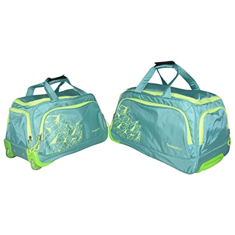 Traworld Duffel Bags with Inbuilt Trolly and 2 Wheels
