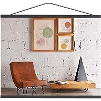 "Mookgro Poster Frame 8x10 8x12 8x18  Magnetic Poster Frame Hanger Hanging Kit for Picture Photo Art Print or Canvas Artwork Light Wood  8"",1 Set,Color Black"