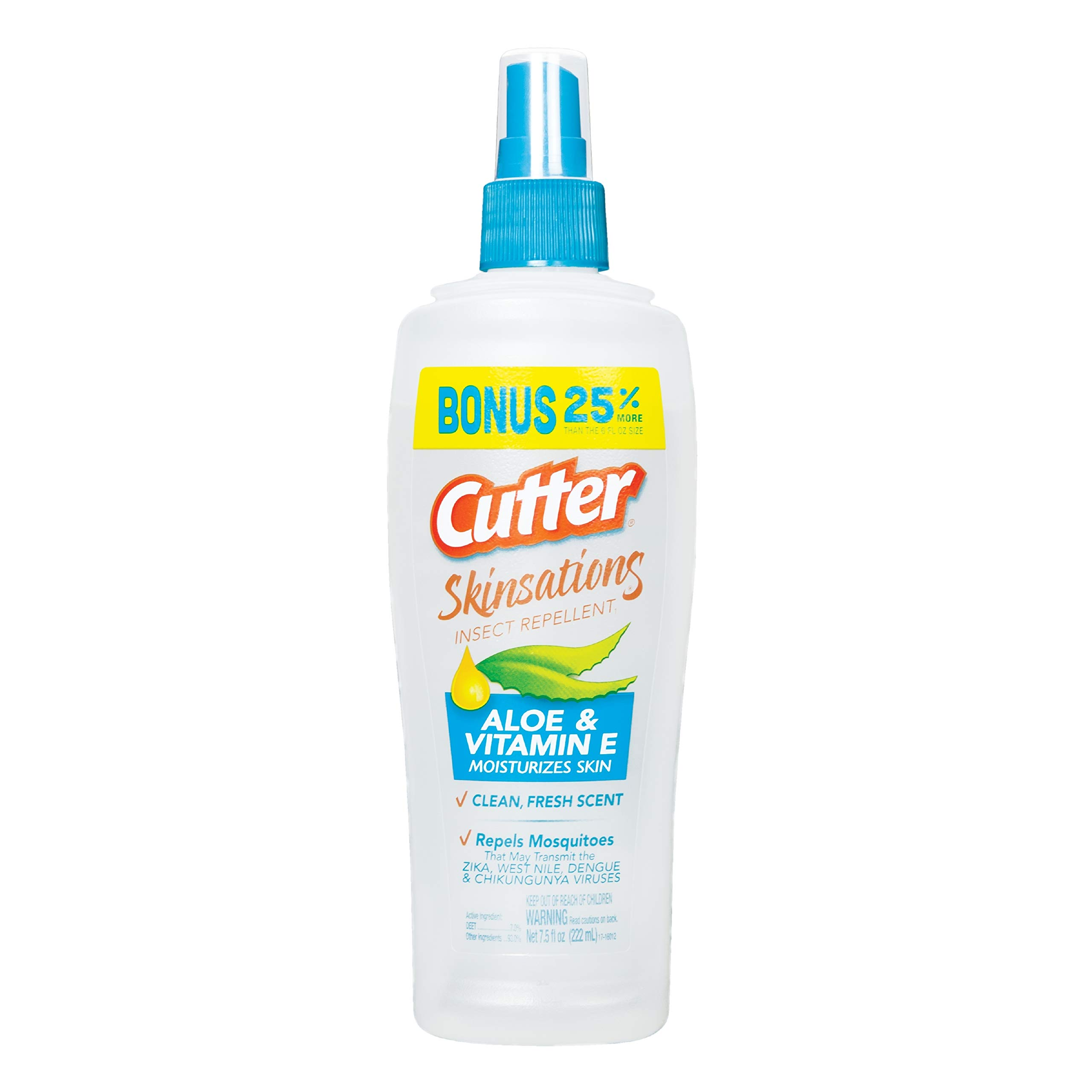 Cutter Skinsations Insect Repellent, Pump Spray, 6-Ounce, 12-Pack by Cutter
