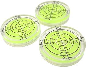 "1-1/4"" (32mm) Precision Bullseye Round Bubble Spirit Level - 3 Pack"