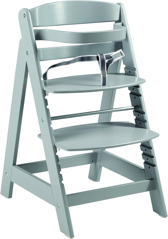 Trona evolutiva roba 'Sit Up Click', utilizable como trona para bebes y silla juvenil, innovador sistema de cierre, madera maciza, acabado en taupe.