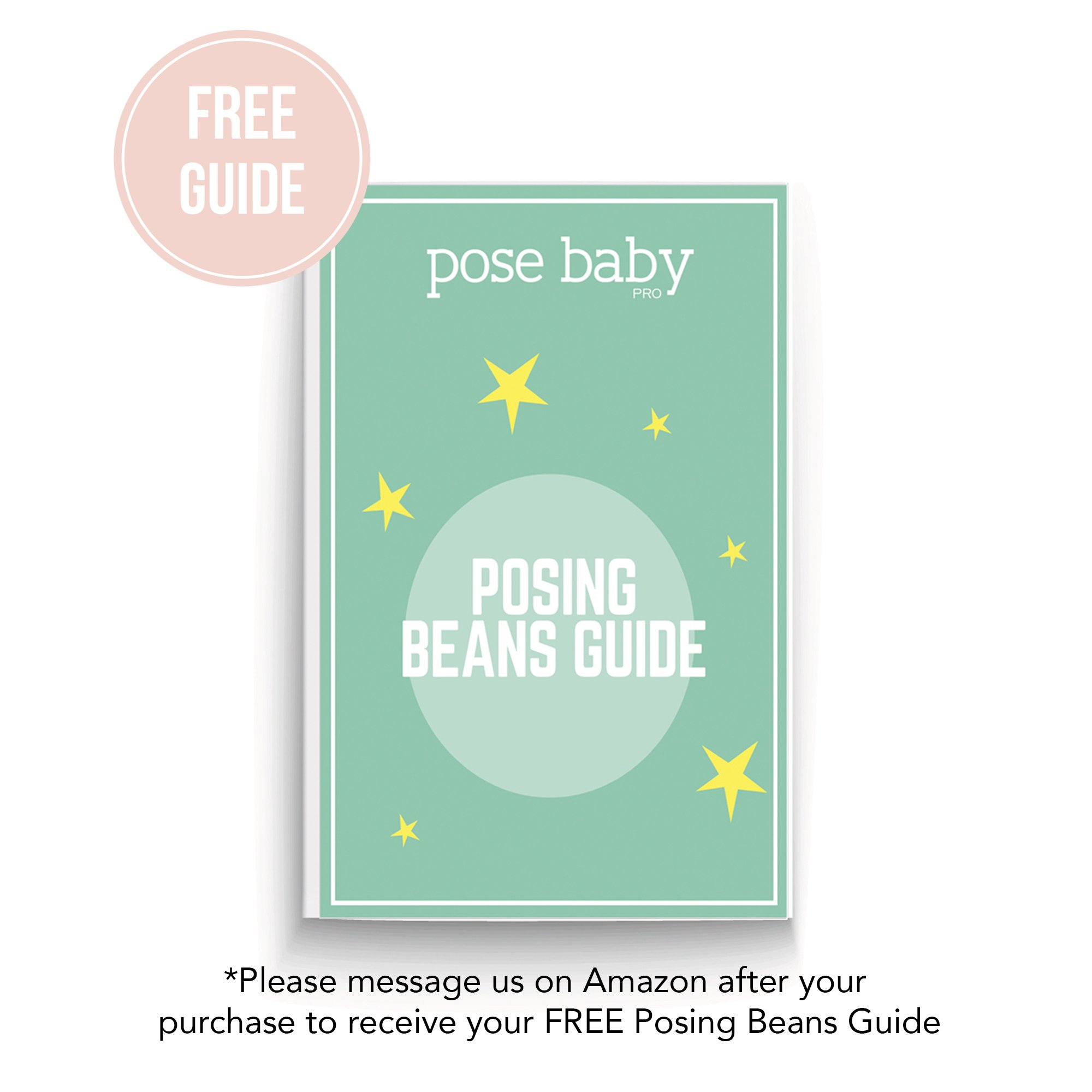 PoseBaby Pro Newborn Photography Posing Beans | 5 Piece Positioner Set for Posing Baby | Professional Posing Aid | Baby Photo Prop & Contoured Posing Pillow | Pre-Filled Newborn Photography Prop by Pose Baby Pro (Image #7)