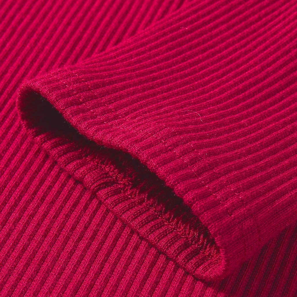 『Kawaiine』Womens V Neck Henley Shirts Long Sleeve Ribbed Button Down Basic Tops Tees Blouse