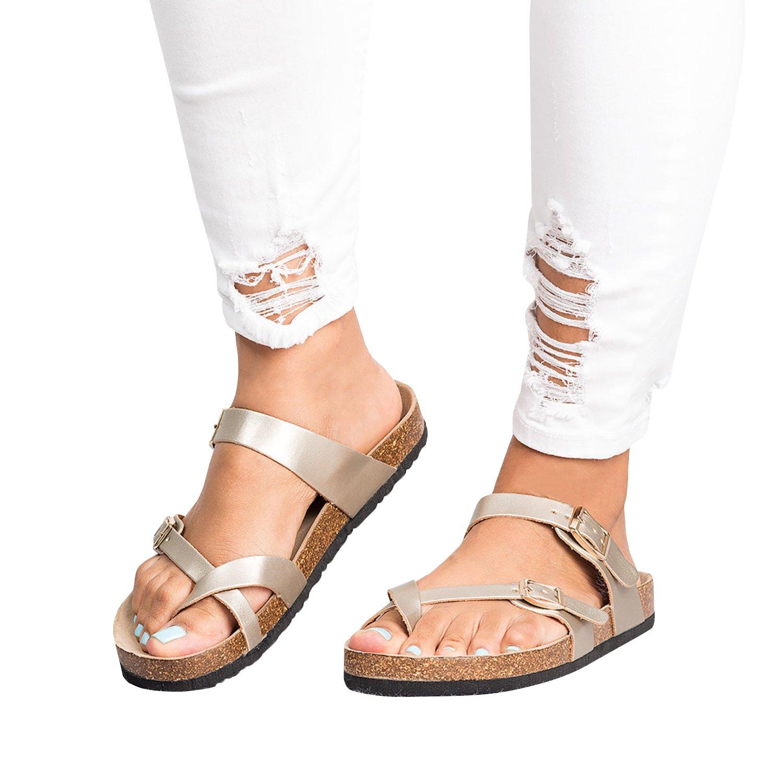 Damen Flat Thong Flip Flop Schuhe Sandalen Sommer Kunstleder Rutschen Hausschuhe  40 EUSchwarz