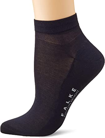 Falke Sneaker Cotton Delight Baumwolle Damen Schwarz Weiß Viele Weitere Farben Verstärkte Sneakersocken Ohne Muster Atmungsaktiv Dünn Eleganz Leichter Glanz 1 Paar Bekleidung