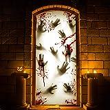 """KD KIDPAR 2Pcs 80×36"""" Large Halloween Door"""