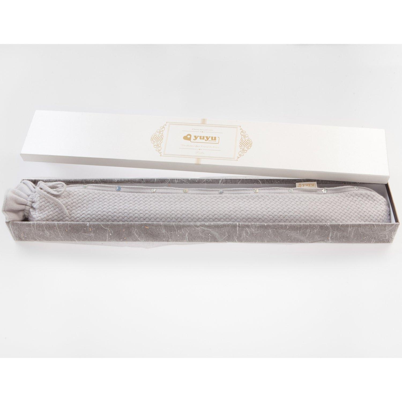 Luxuswärmflasche 100% Kaschmir YuYu Chelsea Stone Grey (80 cm)