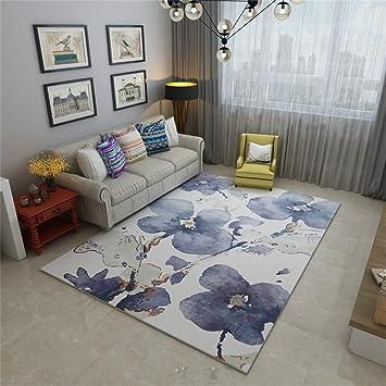 Designer Carpets Modern European Minimalist Style Living Room Rugs Fashion  Bedroom Bedside Carpet With Ink Flower