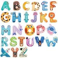 USATDD Jumbo Magnetic Letters Colorful ABC Alphabet Animal Shape Toys Large Uppercase Refrigerator Fridge Magnets…