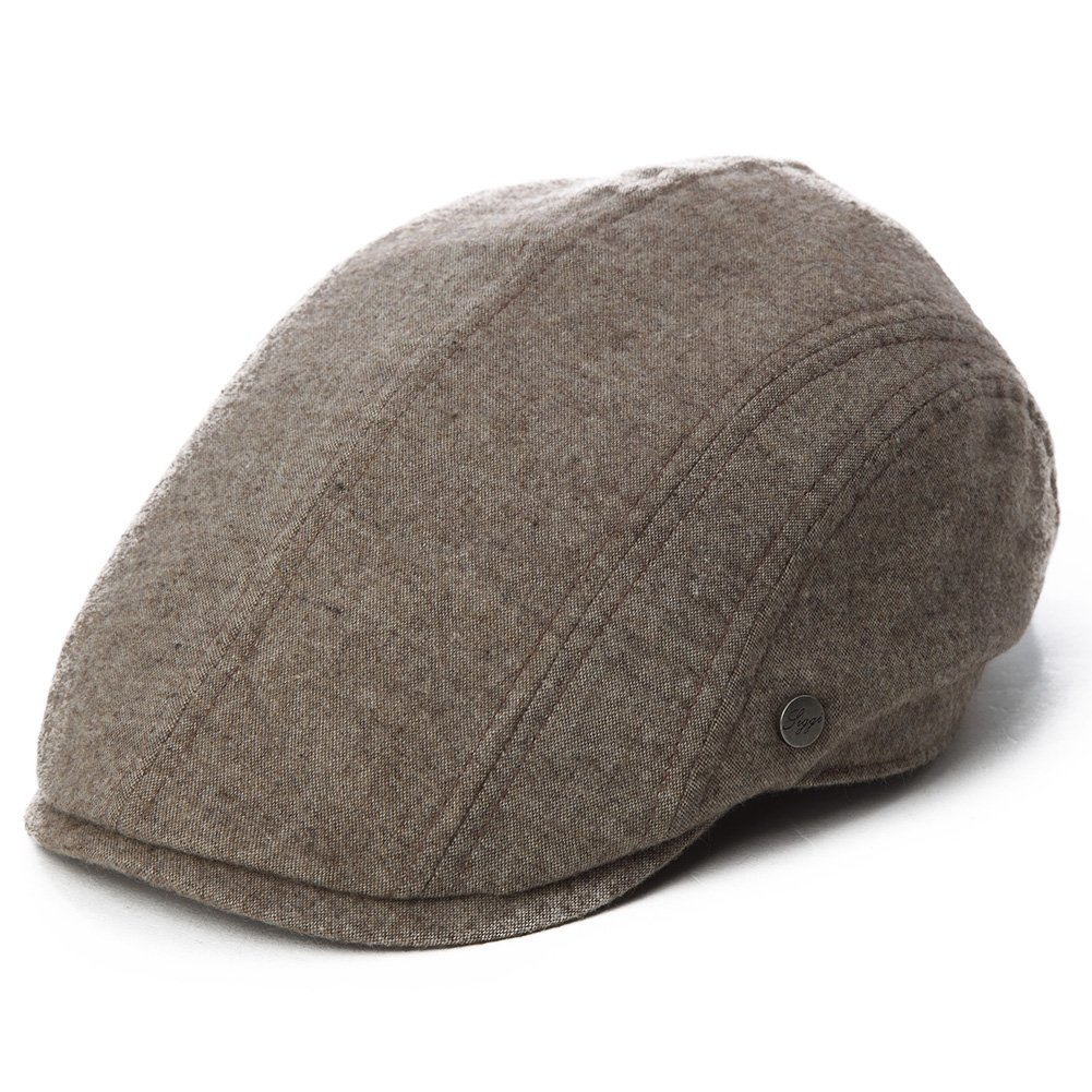 Siggi Mens Flat Duckbill Cap Gatsby Ivy Irish Newsboy Cabbie Golf Shooting Driving Hat Adjustable