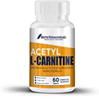 Pure Acetyl L-Carnitine ALC (ALCAR) 500mg- Supplement Pills. Promotes Energy Production, Supporting Brain Health & Cognitive Function. Supports Cardiovascular Health & Antioxidant Protection.