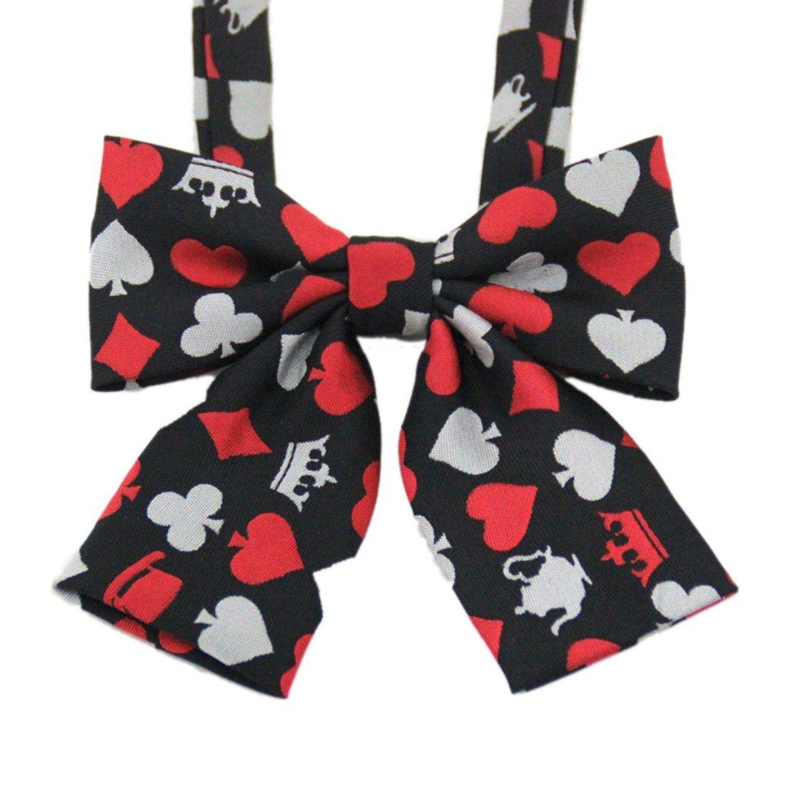 QIYUN.Z Mode-Poker-Muster Student Uniformen Bowknot Krawatten Maedchen Jungen Fliege 3018S0098