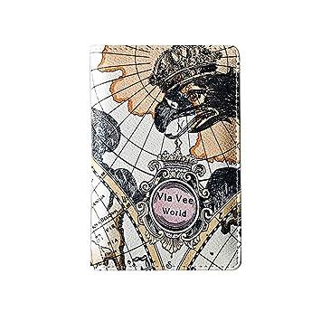Amazon.com: Halfbye - Monedero para mujer, estilo mapa ...