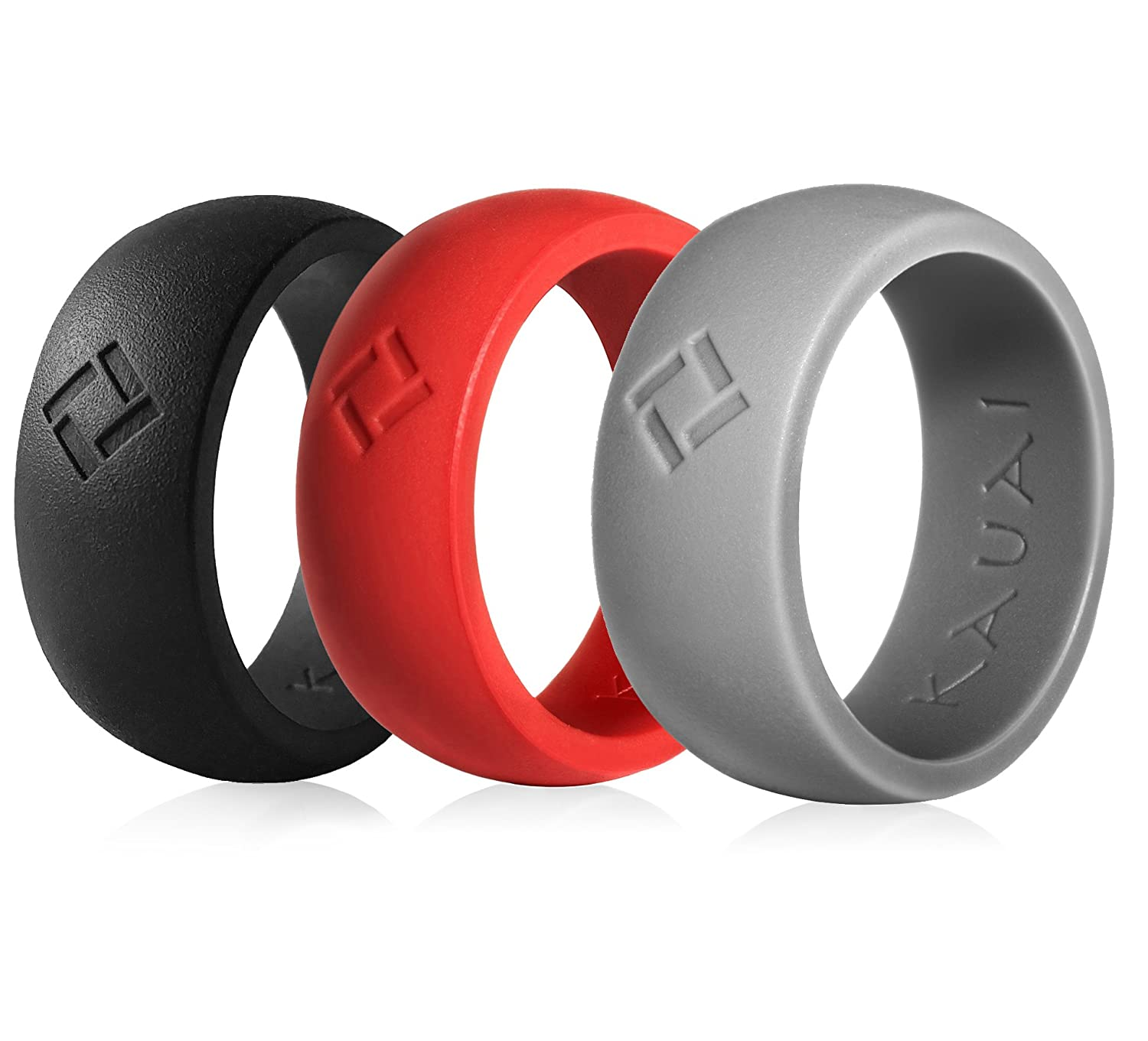59c68cfc6ec2c KAUAI - Silicone Wedding Rings - 3-Pack, Leading Brand, from The Latest  Artist Design Innovations to Leading-Edge Comfort: Pro-Athletic Ring for Men