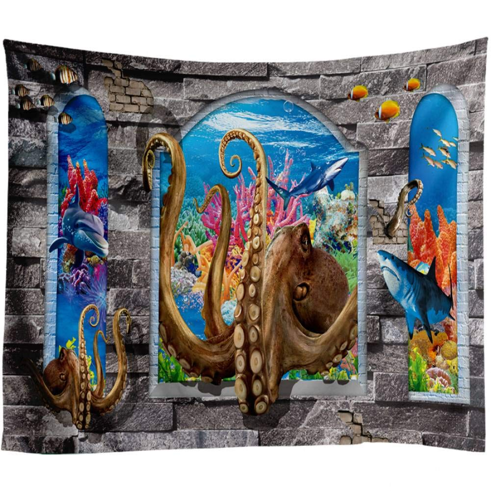 Amazon.com: WFUBY Tapestry Sea Dolphin Fish Ocus Wall ...
