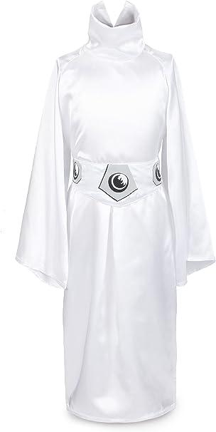 ReliBeauty Niñas Vestido de disfraz de princesa Leia: Amazon.es ...