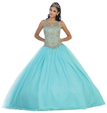 Layla K LK72 Sleeveless Quinceanera Ball Gown (4, Ivory)