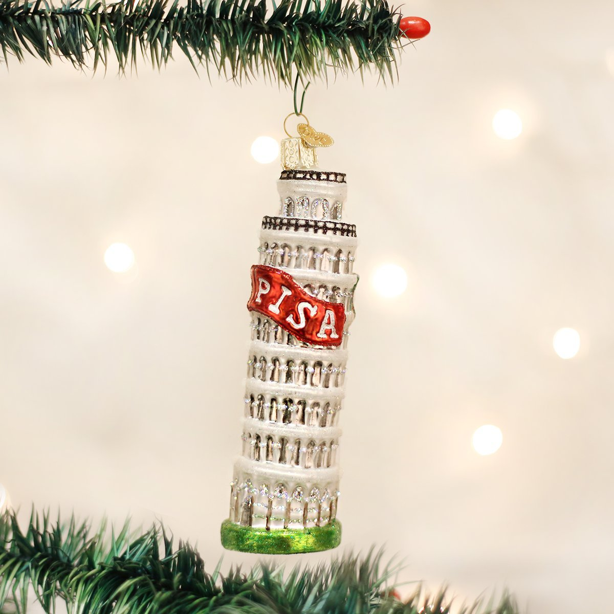 Amazon.com: Old World Christmas Leaning Tower Of Pisa Glass Blown ...