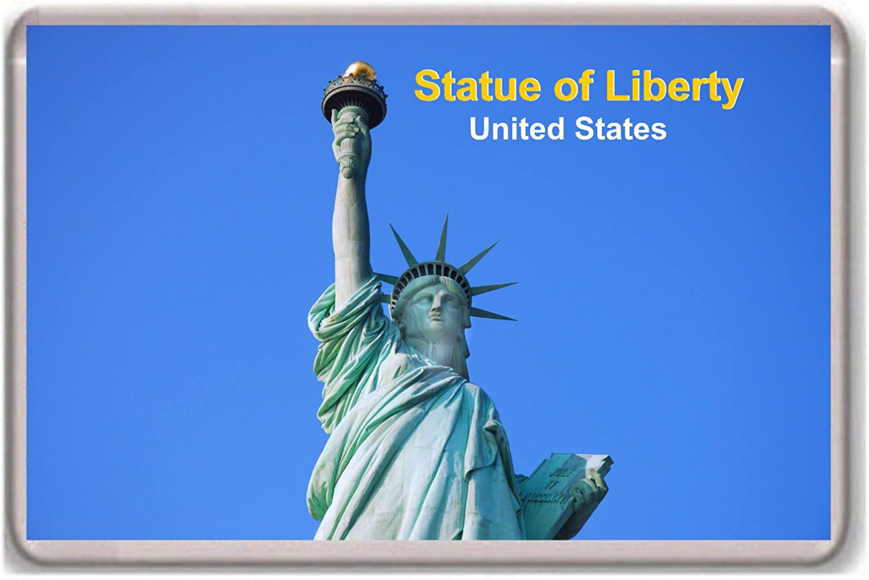 Amazon.com: United States/New York/Statue of Liberty/fridge/magnet.!!!!!!:  Kitchen & Dining