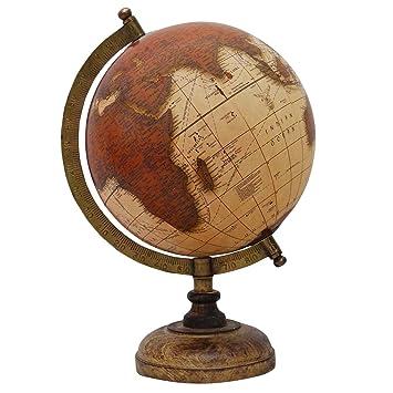 decorative rotating brown ocean globe geography world table decor earth 13 - Decorative Globe