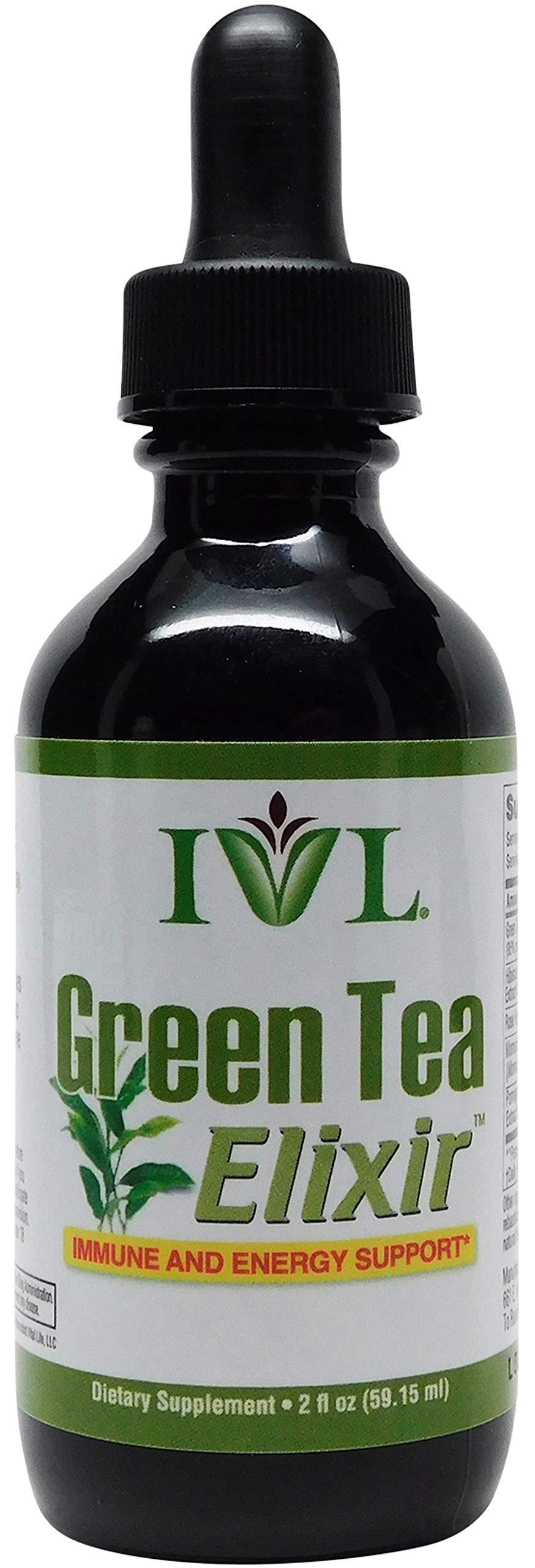 IVL - Green Tea Elixir Immune and Energy Formula, 2 fl oz Bottle