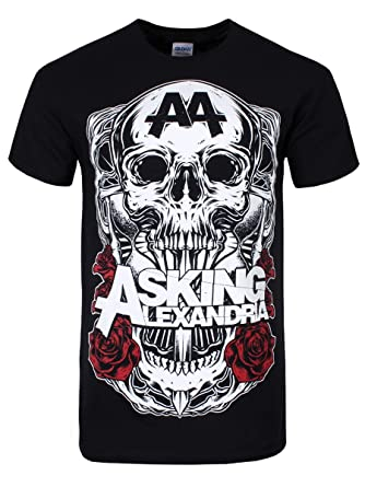 4312e6a6b55 Grindstore Officially Licensed Asking Alexandria Black Shadow Men s Black  T-Shirt