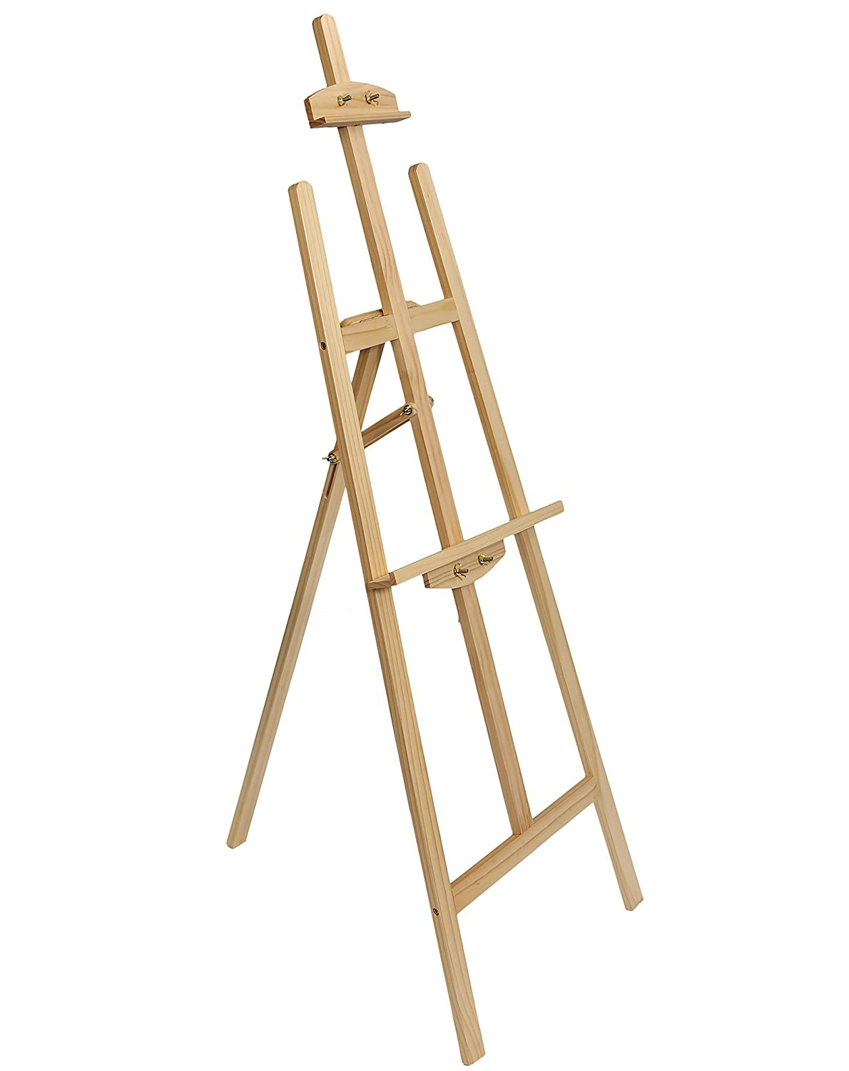 Artist Easel - Pine Wood Floor Studio Easel and Professional Wooden Easel for Painting, Sketching, Display, Exhibition, and Art Artists Improves Technique and Versatility, Students and Hobbyists Artistik