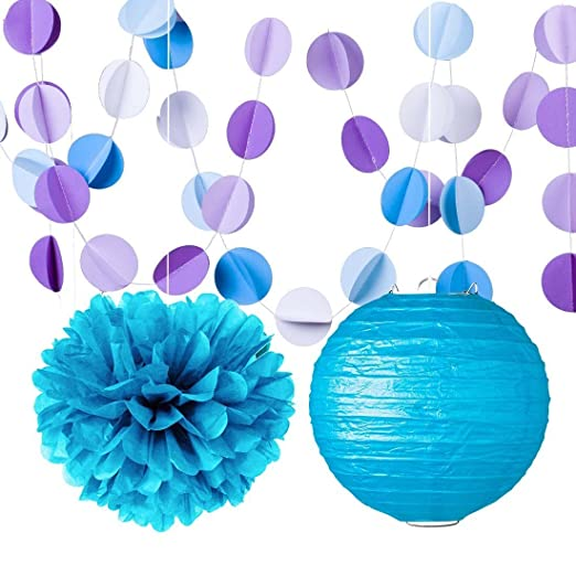Morado Color Azul Tejido pompón de papel de seda (documentos ...