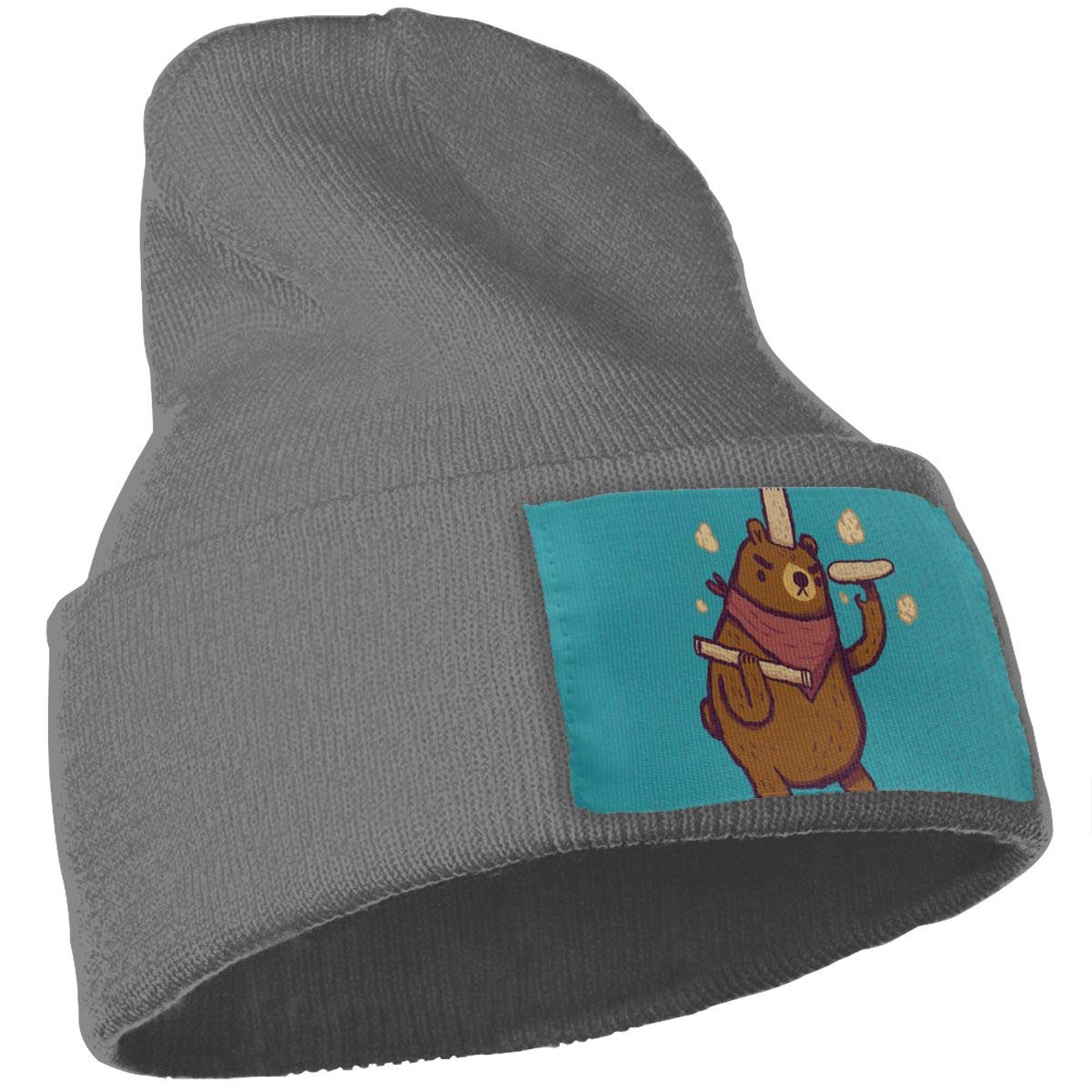 JimHappy Make Me Another Pizza Winter Warm Hats,Knit Slouchy Thick Skull Cap Black