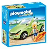 Playmobil 6069 Summer Fun Surfer Car Toy with Convertible - Multi-Coloured