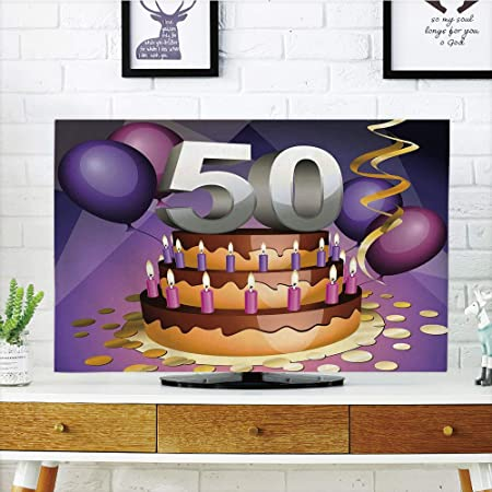 iprint LCD TV Cubierta de Polvo, 50th cumpleaños ...
