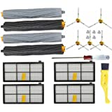 JUMBO FILTER Replacement Parts for iRobot Roomba 800 900 Series Tangle-Free Debris Extractor, Hepa Filters, 12pcs