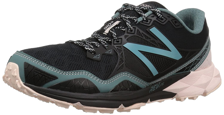 New Balance Women's WT910v3 Trail Running Shoe B01FSIUGA2 6 B(M) US|Black/Bleached Sunrise/Alpha Pink