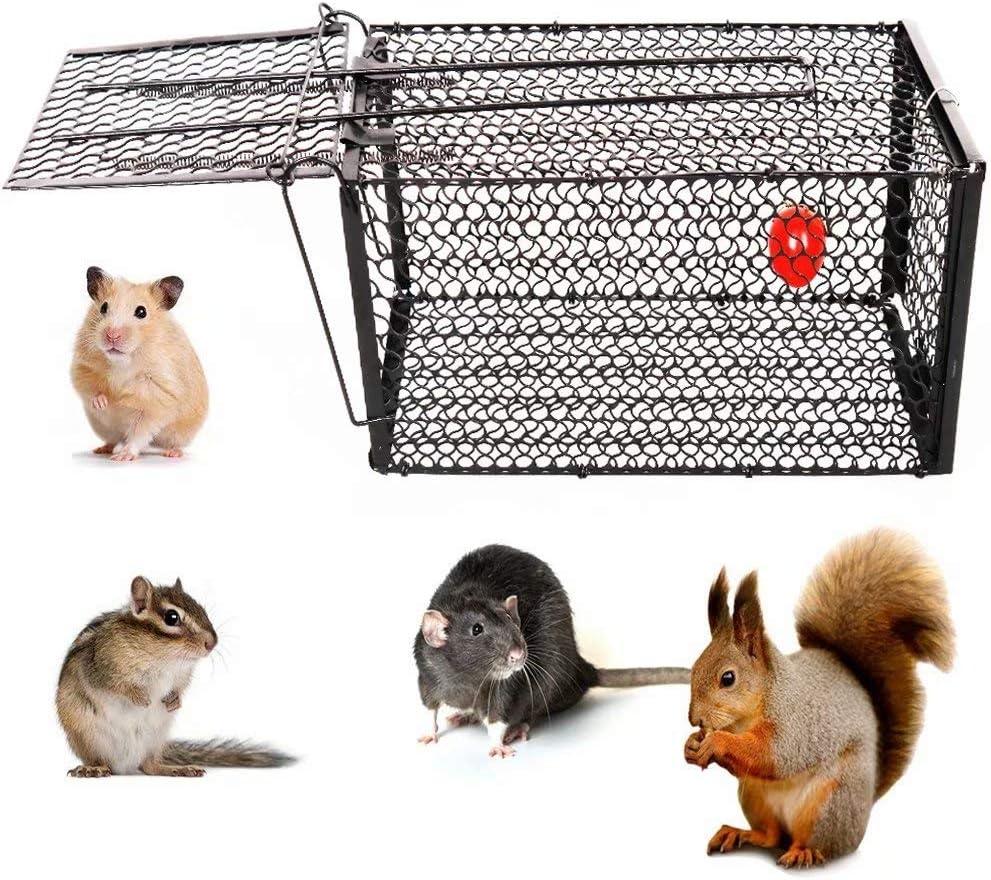 YOMERA Trampa para Ratas, Trampa para Ratas y Ratones 28 * 14 * 14 Cm Jaula para Animales Trampas para Ratones Trampas para Jaulas para Ratones con Animales Vivos y Humanos de Alta Sensibilidad