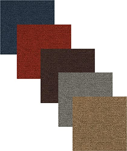 Duobed Standard Fabric Swatches, Deep Ocean, Brick, Flint, Espresso, and Mocha