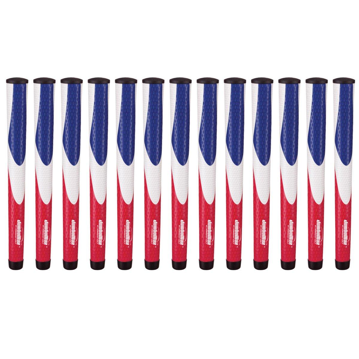 JumboMaxツアーシリーズゴルフグリップバンドル(13個) X-Large レッド/ホワイト/ブルー B01C8W91AC