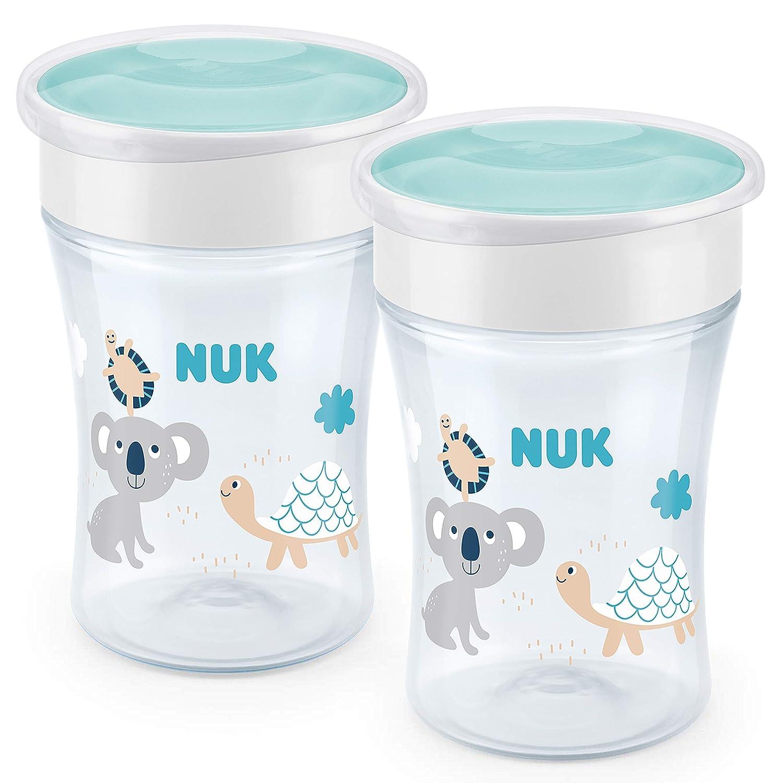auslaufsicher 360° Trinkrand NUK Magic Cup Trinklernbecher 2er-Vorteilspack