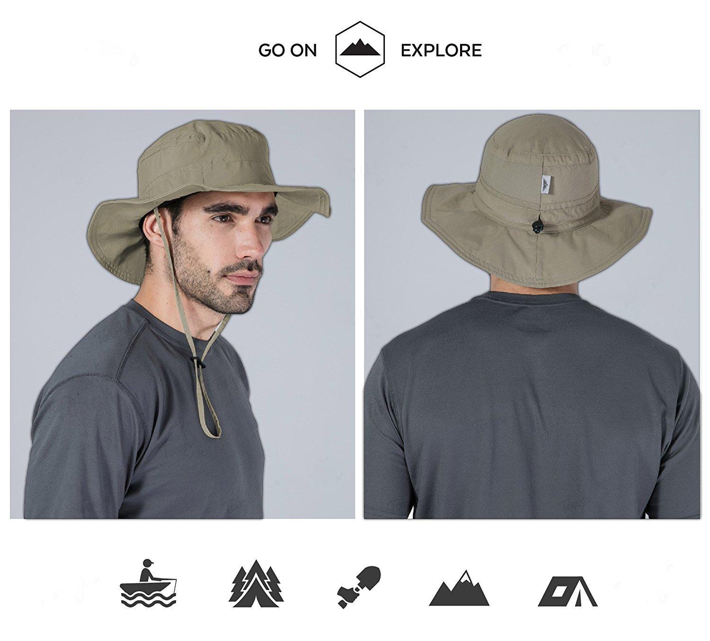 7042e91ee Boonie Safari Sun Hat for Men & Women - UPF 50 Sun Protection - Wide ...
