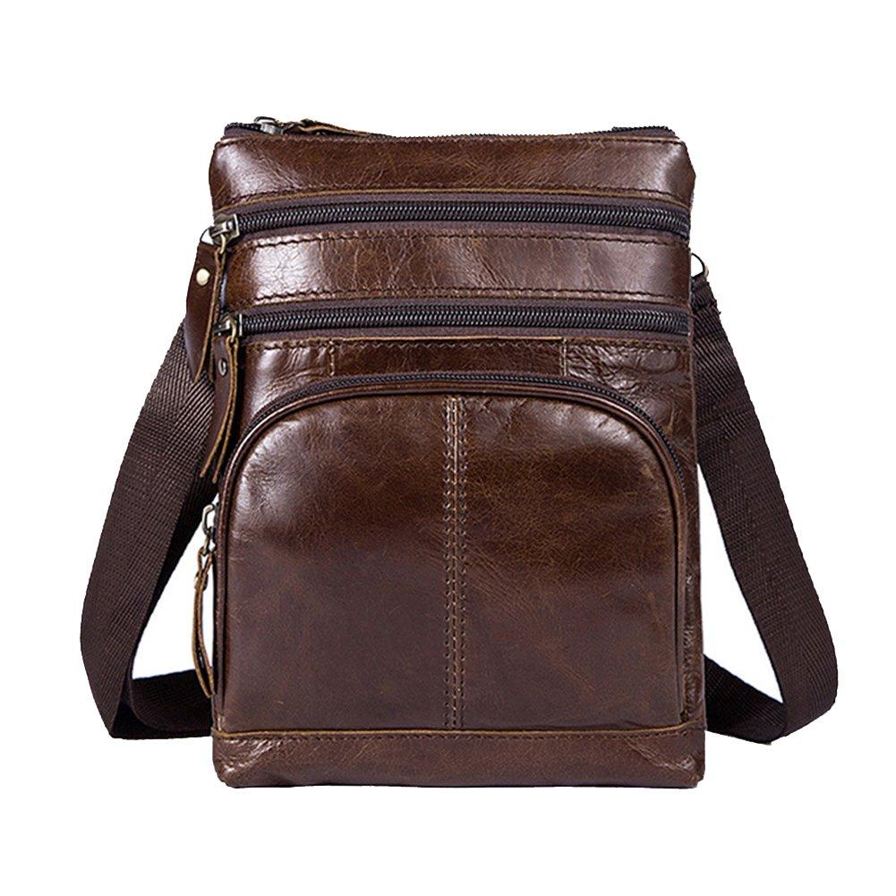 64c0414554174 CTOOO Restro Schultertasche Die Erste Schicht Aus Leder Schulter  Reißverschlusstasche Herren Umhängetasche  Amazon.de  Schuhe   Handtaschen