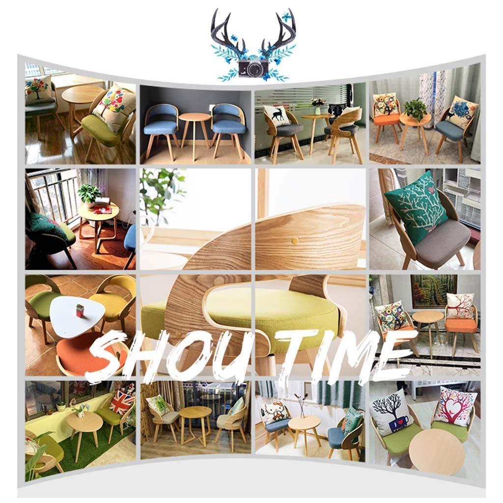 Stolar massivt trä, balkonglounge, tjock dubbelskikts svampdesign, ryggstöd böjd trädesign, med roterbar bricka för vardagsrum sovrum mottagning Roscloud @ H