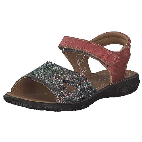 RICOSTA Mädchen Riemchen Sandalen MONI 6422700, Kinder Sandalette,Klett Sandale