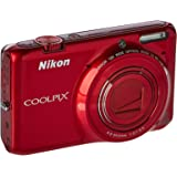 Nikon COOLPIX S6500 Wi-Fi Digital Camera with 12x Zoom - Red (Certified Refurbished)