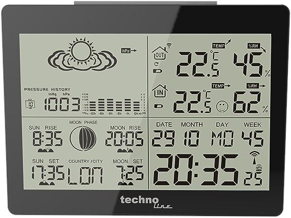Technoline WS 6760 - Estación meteorológica: Amazon.es: Jardín