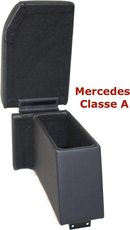 Filocar Design Armlehne Mercedes Klasse A w169 aus schwarzem Kunstleder