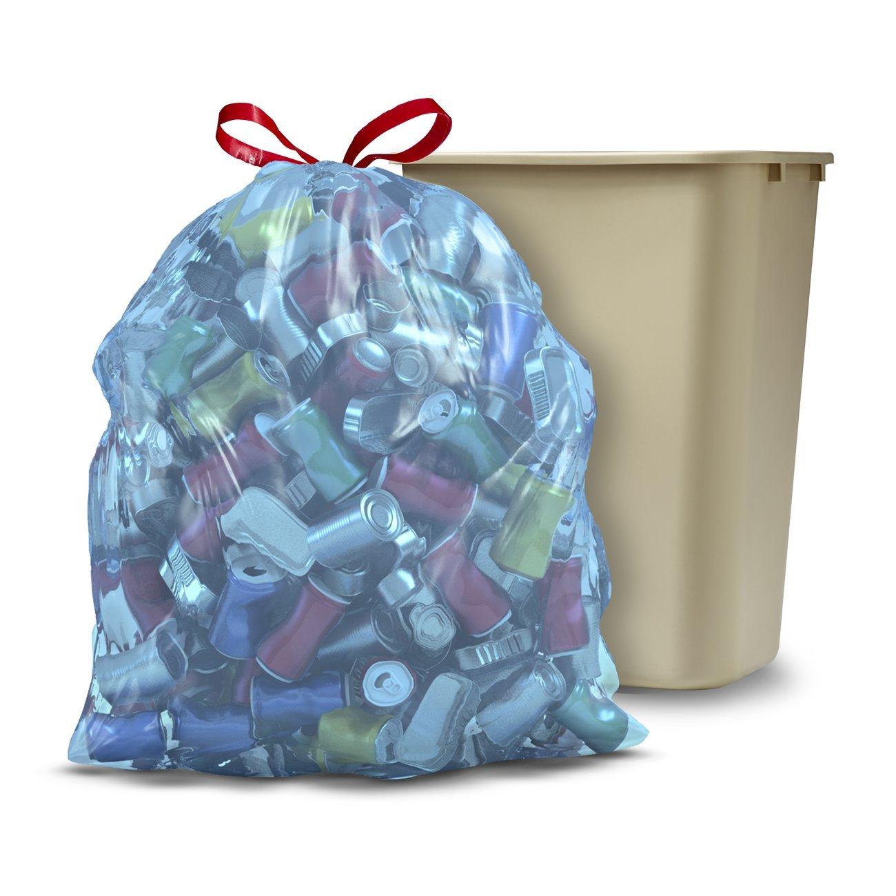 Amazon.com: Glad Recycling Tall Drawstring Kitchen Blue Trash Bags ...