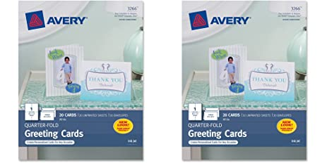 Amazon avery quarter fold greeting cards for inkjet printers avery quarter fold greeting cards for inkjet printers 425 x 55 inches white m4hsunfo Images