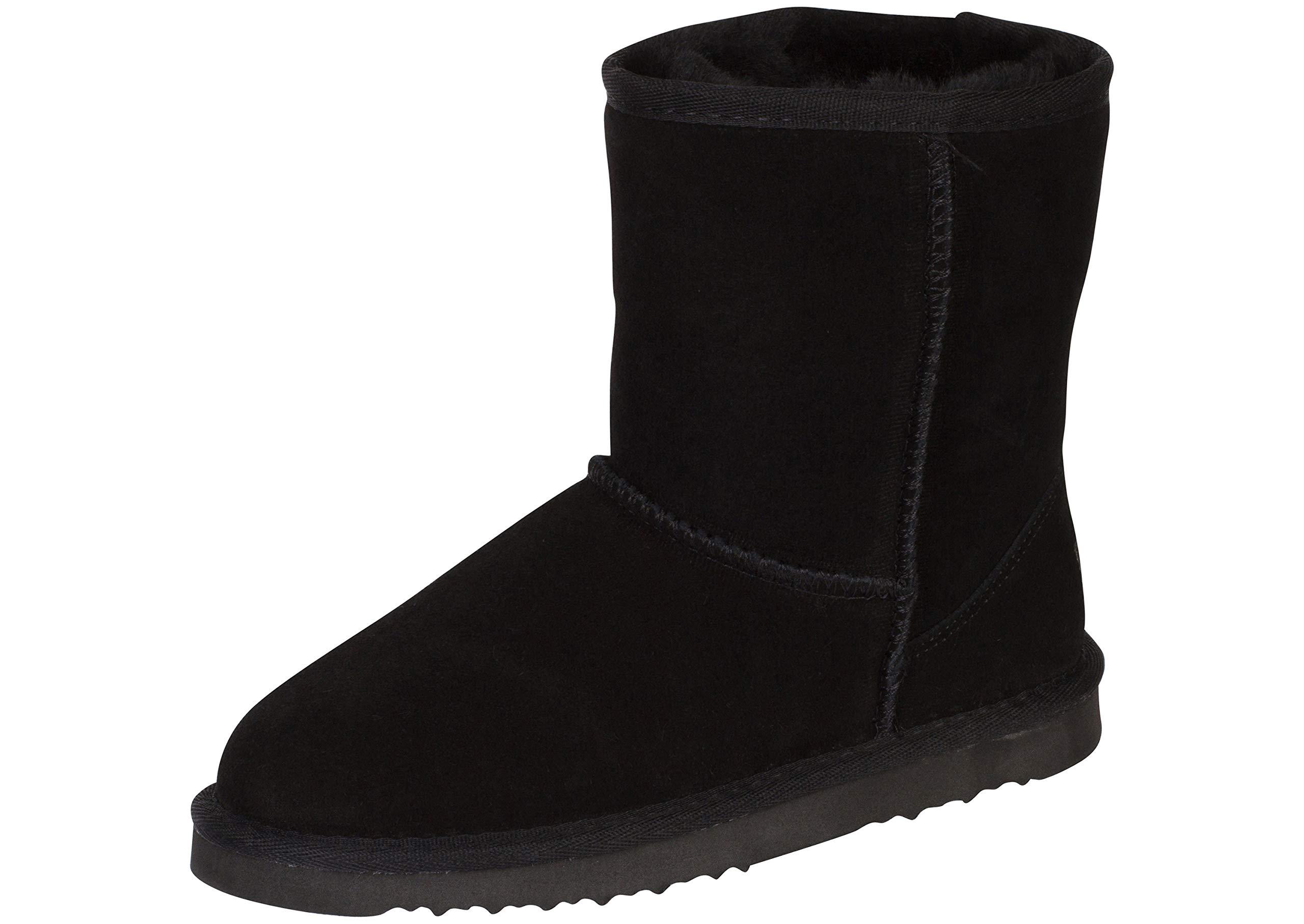 Kemi Kid's Classic Bella Short Winter Fashion Boot, Black, 5 M US Big Kid