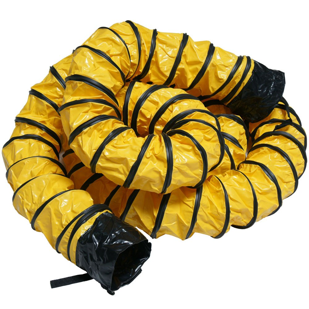 Rubber-Cal ''Air Ventilator Heavy-Duty'' Ventilation Hose (Fully Extended) - 6-Inch by 25-Feet