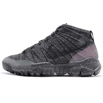 low priced b8dfd 52fd3 Amazon.com   Nike Womens W Flyknit Trainer Chukka FSB  Black Iridescent-Anthracite Fabric Size 10   Running